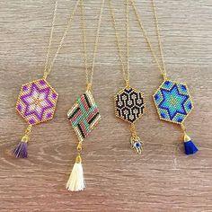 Magic Dreamcatcher Hexagons #lafoxguadalajara #necklace #collar #tassel #color #colorful #red #ultraviolet #purple #green #blue #love #instagood #miyuki #orolaminado #ojoturco #hamsa #24k #style #luxury #fashion #moda #woman #handmade #mexico #guadalajara #followme #dreamcatcher #friends