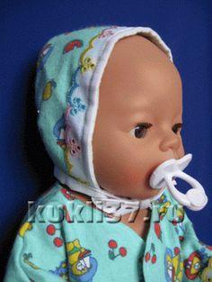 чепчик для куклы