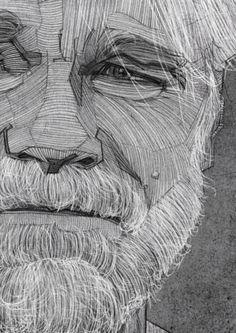 Philip Seymour Hoffman Portrait by Stavros Damos #philipseymourhoffman #charcoal #glerupsusa