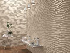 Revêtement mural 3D en céramique pâte blanche DUNE by Atlas Concorde