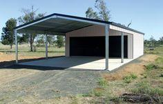 Steel Garage Kits with Carports for Sale Carport Patio, Carport Garage, Wood Pergola, Outdoor Pergola, Outdoor Decor, Pergola Kits, Pergola Ideas, Carport Ideas, Cheap Pergola