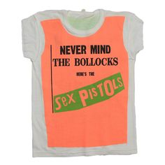 This is an original 1977 Sex Pistols Never Mind The Bollocks Promo Shirt. 100% original vintage, 100% authentic vintage. Made in limited quantities, these were issued to record stores and reps to help promote the Sex Pistols upcoming album, Never Mind the Bollocks. These shirts were made to look lik