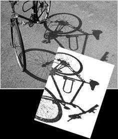 »Ein Fahrrad steht auf dem Schulhof in der Sonne – … sein Schatten wird zum Bildentwurf« –   http://khnemo.wordpress.com/2009/10/13/der-schatten-des-fahrrades-1-%E2%80%A6/