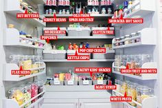 The Hollywood star, 44, showed off her pristine pantry on her website, Goop, which has been given a makeover by home organisation service, Home Edit.