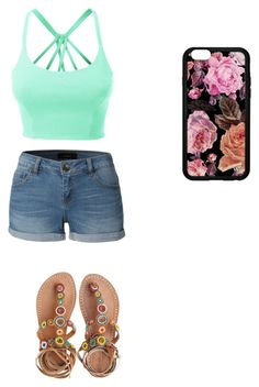 """Cute summer outfit"" by fungiral on Polyvore featuring LE3NO and Laidback London"
