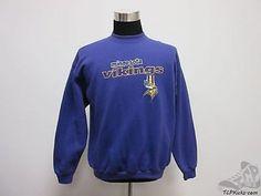 Vtg 90s Logo 7 Sport Minnesota Vikings Crewneck Sweatshirt sz L Large SEWN Vintage by TCPKickz on Etsy