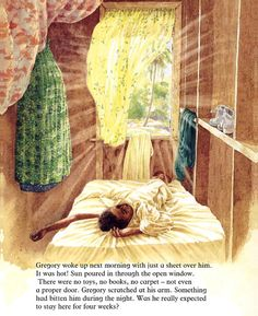 Illustration from 'Gregory Cool' written and illustrated by Caroline Binch (1994)