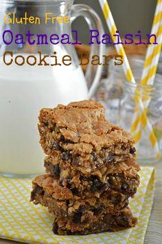 Gluten Free Oatmeal Raisin Cookie Bars | Good Life Eats