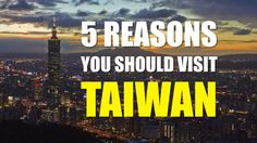Check it out the 5 Reasons Why You Should Visit TAIWAN.  If you are coming to Taiwan, don't forget to bring a camera, and you could win a round-the-world-ticket! That's see Ben Hedges who is famous host how to say it!  #AnytimeForTaiwan