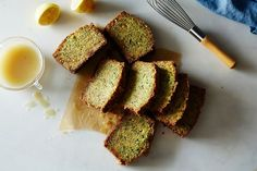 Gingery Olive Oil Zucchini Cake with Poppy Seeds and Lemon Crunch Glaze | recipe from Food52