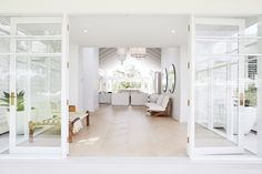 Three Birds House Eight / White Oiled / Sydney - Timber Flooring Project Coastal Living Rooms, Coastal Homes, My Living Room, Living Room Decor, Living Area, Small Living, Style Blanc, Engineered Timber Flooring, Three Birds Renovations