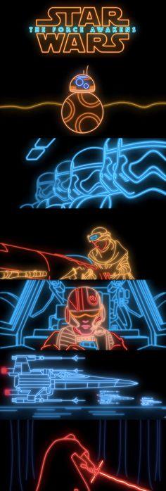 Neon Star Wars!