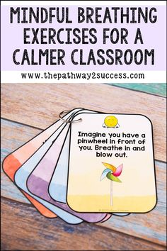 Mindful Breathing Activities for Kids & Teens - If you want a calmer, kinder, and more relaxed classroom, give these breathing exercises a try in t - Calm Classroom, Classroom Behavior, Classroom Management, Mindfulness In Schools, Mindfulness For Kids, Mindfulness Activities, Social Emotional Development, Social Emotional Learning, Coping Skills