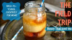 An adult version of the classic Thai #icedtea is made better with #bourbon. #drinkrecipes #cocktails #icedtearecipes