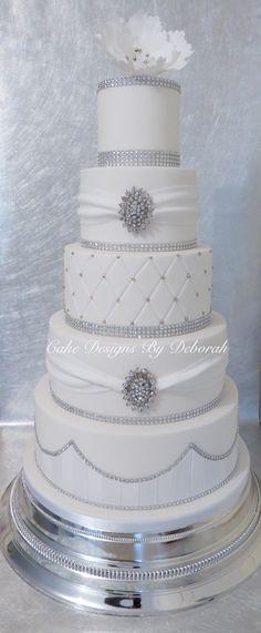 Diamanté wedding cake  Cakedesignsbydeborah.co.uk