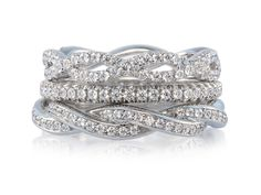 """Lazare Diamond Stackable Bands. Disover why Lazare is, """"the worlds most beautiful diamond"""""""