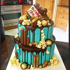 Ultimate chocolate drip cake #nutella #chocolateoverdose
