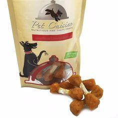 Pet Cuisine Premium Natural Dog Treats Training Snacks Dog Food Puppy Chews,Sweet Potato & Rawhide Dumbbells, 100g