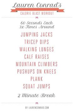 Lauren Conrad's weekly #workout schedule for toned legs - P.S:You can lose weight fast at RaspTea.com