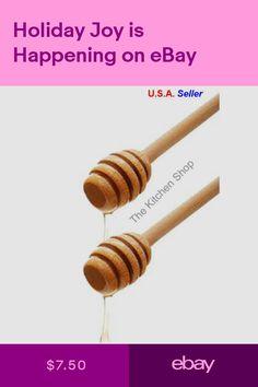 3.15 Inch 16 Pack Mini Wood Honey Dippers Drizzler Stirring Stick for Honey Jar Pot Dispense