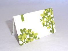 Green Tree Hugger Business Card Holder or Credit by ShastaBlue, $8.00