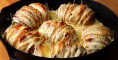 Croque Monsieur Hasselback Potatoes - stuffed full of ham and cheese and covered in bechamel sauce, these Franco-British love-ins are essentially heaven on a plate.