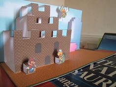 AWESOME Super Mario pop-up card! #geek #nintendo #koopa #mario #luigi #princess