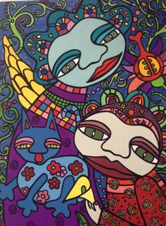 Naive Art : By Karin Dempsey Greenwood. Vibrant Colors, Colours, Different Media, Naive Art, Folklore, Snoopy, Fictional Characters, Vivid Colors, Fantasy Characters
