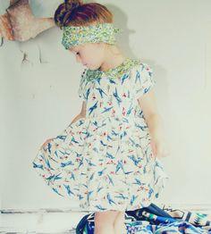 Girls The Blue Yonder Peter Pan Collar Dress//
