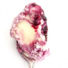 Jeni's sweet corn and black raspberry ice cream.