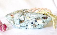 SOLD! Schmuckaufbewahrung  Deko Mosaik Schmuck Glasschale von LonasART, €45.00