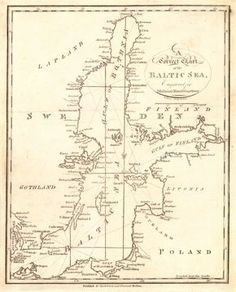 A Correct Chart of the Baltic Sea, engraved for Malhams Naval Gazetteer (Published: Spotswood and Nancrede. 1797. Boston)