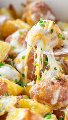 Baked Cheesy Ranch Potatoes ~ Sometimes the best recipes are the simplest @natashaskitchen