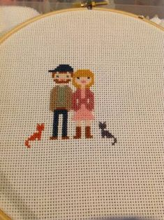 Cross Stitch Family Portrait - NEEDLEWORK