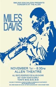 Miles Davis 1974 Cleveland Concert Poster by ClevelandRockAndRoll, $15.00