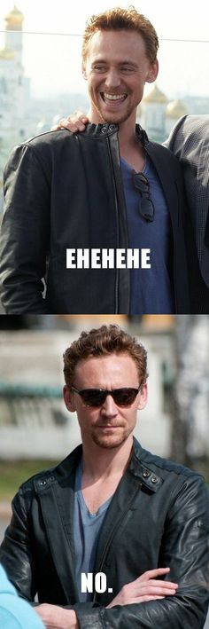 Tom Hiddleston attractive, happy or serious.