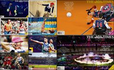 Some of the great wraparound front pages from the Times during the London 2012 Paralympics.