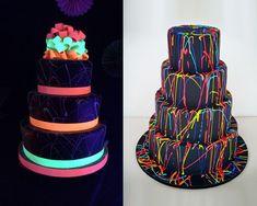 Festa 15 anos Debutante Neon Bolo
