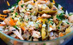 Grilled Chicken Escabeche Tostadas