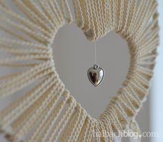 halbachblog I DIY-Tutorial I Traumfänger basteln mit Herz-Öffnung I Spitze, Kordel, Bänder, Accessoires