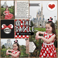 Disney Digital Project Life page created by Trixiefc1985 featuring Project Mouse by Sahlin Studio & Britt-ish Designs