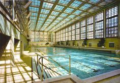 Berlin's best swimming pool architecture Google Architecture, Architecture Bauhaus, German Architecture, Swimming Pool Architecture, Bauhaus Design, Walter Gropius, Best Swimming, Relaxation Room, Mansions