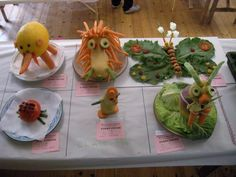 people made of vegetables | Animals made out of vegetables