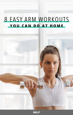 Building arm muscle doesn't have to involve extensive weight training. You can work your triceps and biceps right in the comfort of your own home with the help of one of these easy-to-follow eight videos.