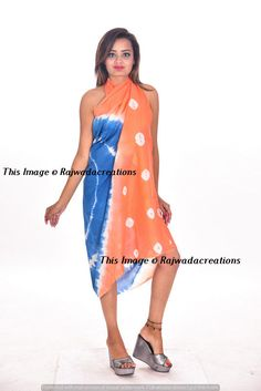 44b4c1840bcc8 Cotton Hand Print Sarong Pareo Beach Cover-up Hawaii Bikini Wrap Skirt Dress   Rajwadacreations