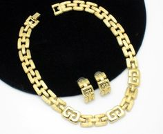 Givenchy Couture Logo Set!  http://stores.ebay.com/atouchofrosevintagejewels
