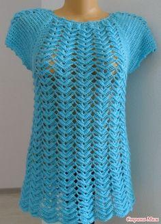 Magnifique blouse au crochet ajouré 2 / Linda blusa tejida a crochet fac. the turquoise jacket dear This Pin was discovered by Vil Blouse Au Crochet, Gilet Crochet, Black Crochet Dress, Crochet Jacket, Crochet Stitches, Diy Crafts Crochet, Easy Crochet, Knit Crochet, Knitting Patterns