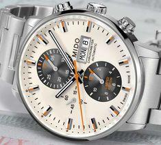 In neuem Look kommt der einzige Chronographen mit COSC-Zertifikat von Mido, der neue Mido Commander Chronometer limited Edition. Hier alle Infos