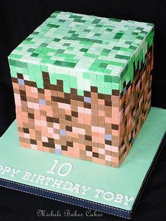 Minecraft Cake -I know some boys who would love this! Description from pinterest.com. I searched for this on bing.com/images