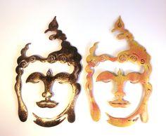 Schlafzimmer buddha ~ Buddha gold auf schwarz pulverbeschichtetes metall
